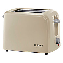 Buy Bosch TAT3A017GB Village 2-Slice Toaster, Cream Online at johnlewis.com