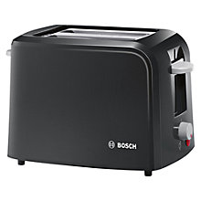 Buy Bosch TAT3A013GB Village Collection 2-Slice Toaster, Black Online at johnlewis.com