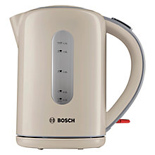 Buy Bosch TWK7607GB Village Kettle, Cream Online at johnlewis.com
