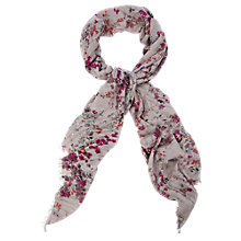 Buy Oasis Oriental Painterly Bird Scarf, Grey Online at johnlewis.com