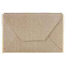 Buy Oasis Cara Glitter Envelope Clutch, Gold Online at johnlewis.com