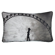 Buy John Lewis London Scene Cushion, Steel Online at johnlewis.com