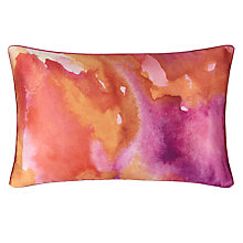 Buy John Lewis Silk Watercolour Cushion, Pink Online at johnlewis.com