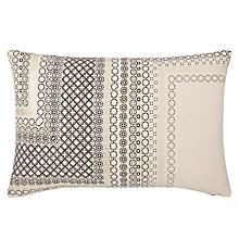 Buy John Lewis Bazaar Metallic Cushion, Black Online at johnlewis.com