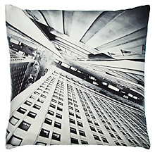 Buy John Lewis Vertical City Cushion, Steel Online at johnlewis.com