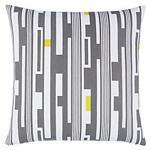 Buy John Lewis Tower Cushion, Smoke/Dandelion Online at johnlewis.com