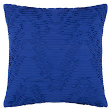 Buy John Lewis Textured Chevron Cushion, Lapis Online at johnlewis.com