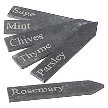 Buy John Lewis Croft Collection Slate Herb Tags, Set of 6 Online at johnlewis.com