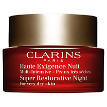 Buy Clarins Super Restorative Night Cream, For Very Dry Skin, 50ml Online at johnlewis.com