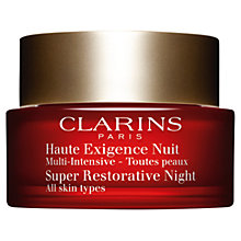 Buy Clarins Super Restorative Night Cream, All Skin Types, 50ml Online at johnlewis.com