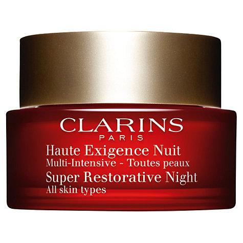 buy clarins super restorative night cream all skin types 50ml john lewis. Black Bedroom Furniture Sets. Home Design Ideas