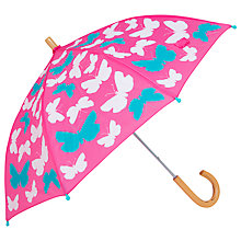 Buy Hatley Butterfly Umbrella, Pink Online at johnlewis.com