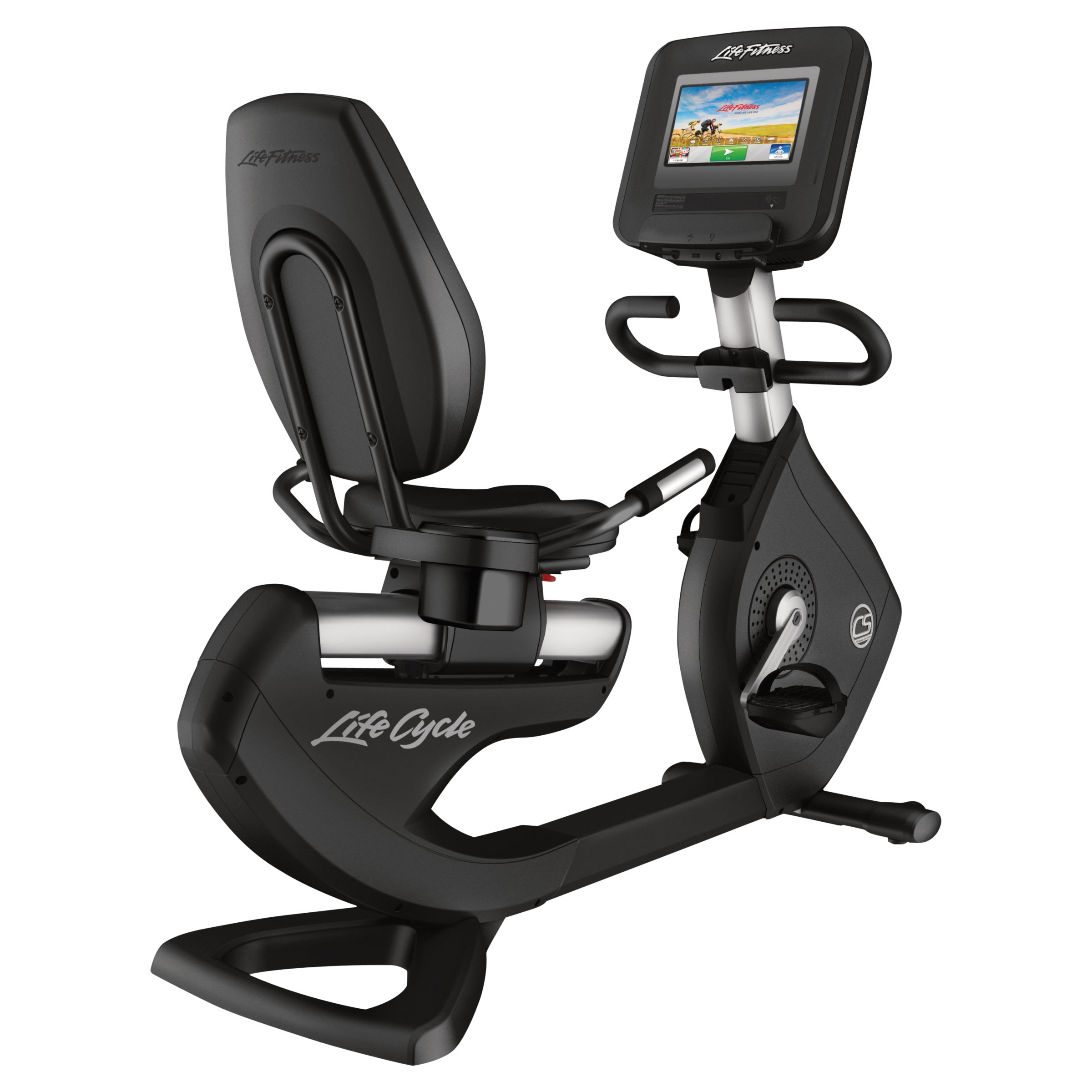 Life Fitness Life Fitness Platinum Club Series Recumbent Lifecycle Exercise Bike with Discover SI Tablet Console