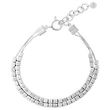 Buy Links of London Sterling Silver Cubist Double Row Bracelet Online at johnlewis.com