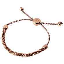 Buy Links of London Effervescence XS Cord Metallic Bracelet, Copper Online at johnlewis.com
