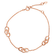 Buy Links of London Signature 3 Station Bracelet, Rose Gold Online at johnlewis.com