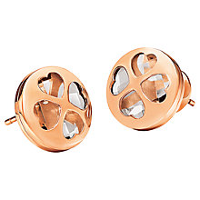 Buy Folli Follie Heart4heart Win Earrings, Rose Gold Online at johnlewis.com