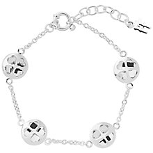 Buy Follie Follie Heart Bracelet, Silver Online at johnlewis.com