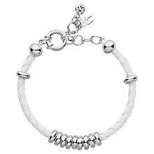 Buy Folli Follie Happy Nugget Bracelet, White/ Silver Online at johnlewis.com