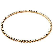 Buy Links of London Essentials 18ct Gold Vermeil Bangle Online at johnlewis.com