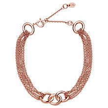 Buy Links of London Signature Rose Gold Plated Sterling Silver Bracelet, Gold Online at johnlewis.com