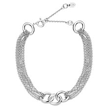 Buy Links of London Sterling Silver Signature Multi Chain Bracelet, Silver Online at johnlewis.com