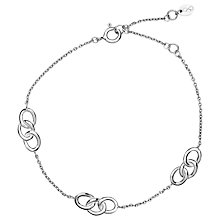 Buy Links of London Sterling Silver Signature 3 Station Bracelet, Silver Online at johnlewis.com