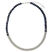 Buy John Lewis Split Necklace, Silver / Blue Online at johnlewis.com