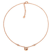 Buy Folli Follie Heart4Heart Win Necklace, Rose Gold Online at johnlewis.com