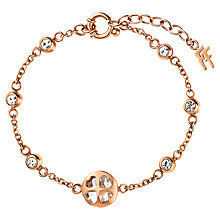 Buy Folli Follie Heart4Heart Win Bracelet, Rose Gold Online at johnlewis.com