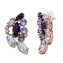 Buy Cabinet 9 ct Gold Plated Swarovski Crystal Aleta Earrings, Purple/Blue Online at johnlewis.com