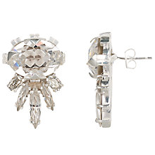 Buy Cabinet Sterling Silver Plated Swarovski Crystal Cirripedia Earrings, Silver Online at johnlewis.com