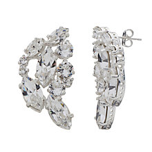 Buy Cabinet Silver Sterling Plated Swarovski Crystal Aleta Earrrings, Silver Online at johnlewis.com