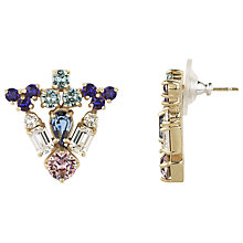 Buy Cabinet 9ct Gold Plated Grand Paradisia Crystal Earrings, Pink/Purple Online at johnlewis.com