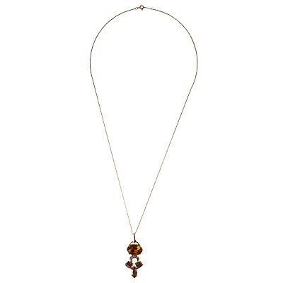 Cabinet Swarovski Crystal Crested Pendant
