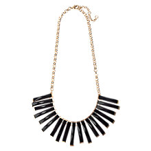 Buy Adele Marie Belcher Chain Necklace, Gold/Black Online at johnlewis.com