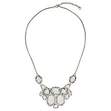 Buy Cabinet Sterling Silver Plated Swarovski Crystal Plume Statement Necklace Online at johnlewis.com