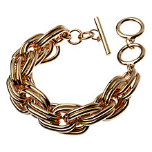 Buy Adele Marie Double Large Link Bracelet, Gold Online at johnlewis.com