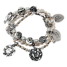 Buy Adele Marie Crochet Bracelet, Silver Online at johnlewis.com