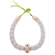 Buy Cabinet Rose Gold Plated Swarovski Crystal Silk Rope Oyster Collar Necklace, White Online at johnlewis.com
