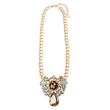 Buy Adele Marie Resin Glass Chain Necklace, White/Gold Online at johnlewis.com