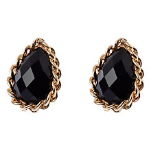 Buy Adele Marie Teardrop Chunky Chain Earrings, Black/Gold Online at johnlewis.com