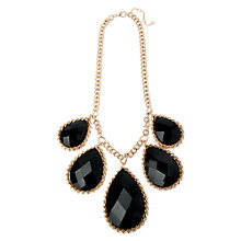 Buy Adele Marie Teardrop Stones Chunky Flat Chain Necklace, Gold / Black Online at johnlewis.com