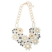 Buy Adele Marie Bead Floral Necklace, Gold/White Online at johnlewis.com