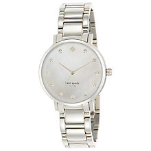 Buy kate spade new york 1YRU0006 Women's Gramercy Crystal Marker Watch, Silver / Mother of Pearl Online at johnlewis.com