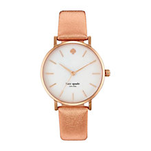 Buy kate spade new york 1YRU0226 Women's Metro Watch, Rose Gold Online at johnlewis.com