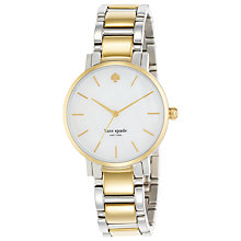 Buy kate spade new york 1YRU0005 Women's Gramercy Two Tone Bracelet Strap Watch, Silver/Gold Online at johnlewis.com