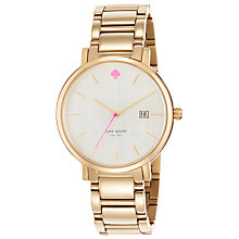 Buy kate spade new york 1YRU0009 Women's Gramercy Grand Watch, Gold/Mother of Pearl Online at johnlewis.com