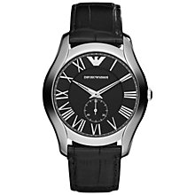 Buy Emporio Armani Men's Classic Analogue Leather Strap Watch Online at johnlewis.com