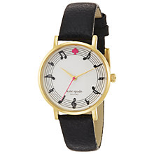 Buy kate spade new york 1YRU0493 Women's Metro Music Dial Watch, Black Online at johnlewis.com